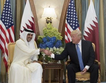 Trump and The Emir Of Qatar