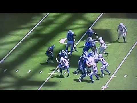 Colts Defense LBs Miss Detroit Lions RB Washington On Simple Run Play – Vlog