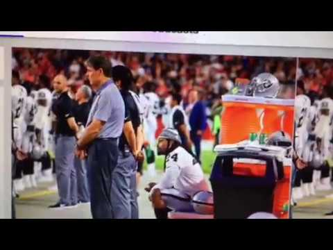 Marshawn Lynch Sits For National Anthem Honors Colin Kaepernick