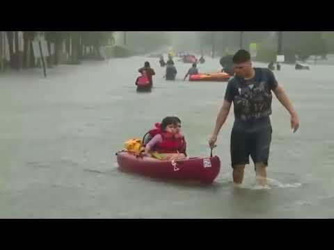 Texas Hurricane Harvey | Houston Flood 2017 Rescue Operations, Raining, Tornado Footage