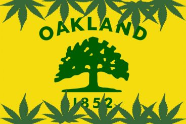 Oakland Cannabis Flag courtesy of Mickey Martin Consulting